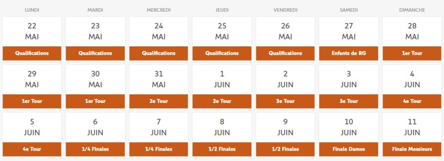 tout sur roland garros 2017 dates programme et r sultats. Black Bedroom Furniture Sets. Home Design Ideas