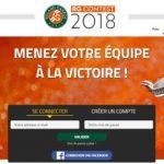 RG Contest 2018 : la plateforme Fantasy League de Roland Garros